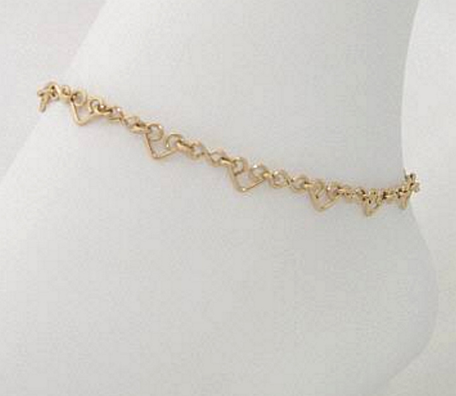 14kt Gold Filled Anklet with Hearts