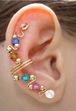 Ear Wrap with Cubic Zirconia Ear Stud